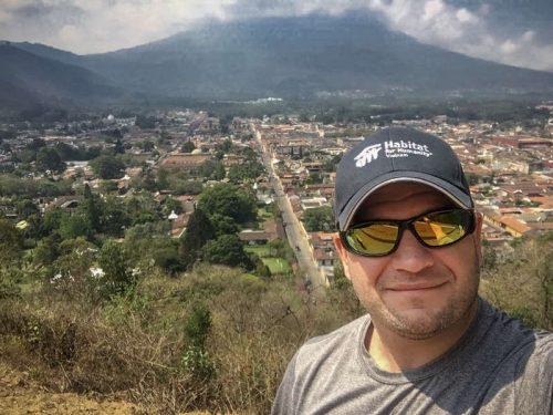 Overlooking Antigua, Guatemala.